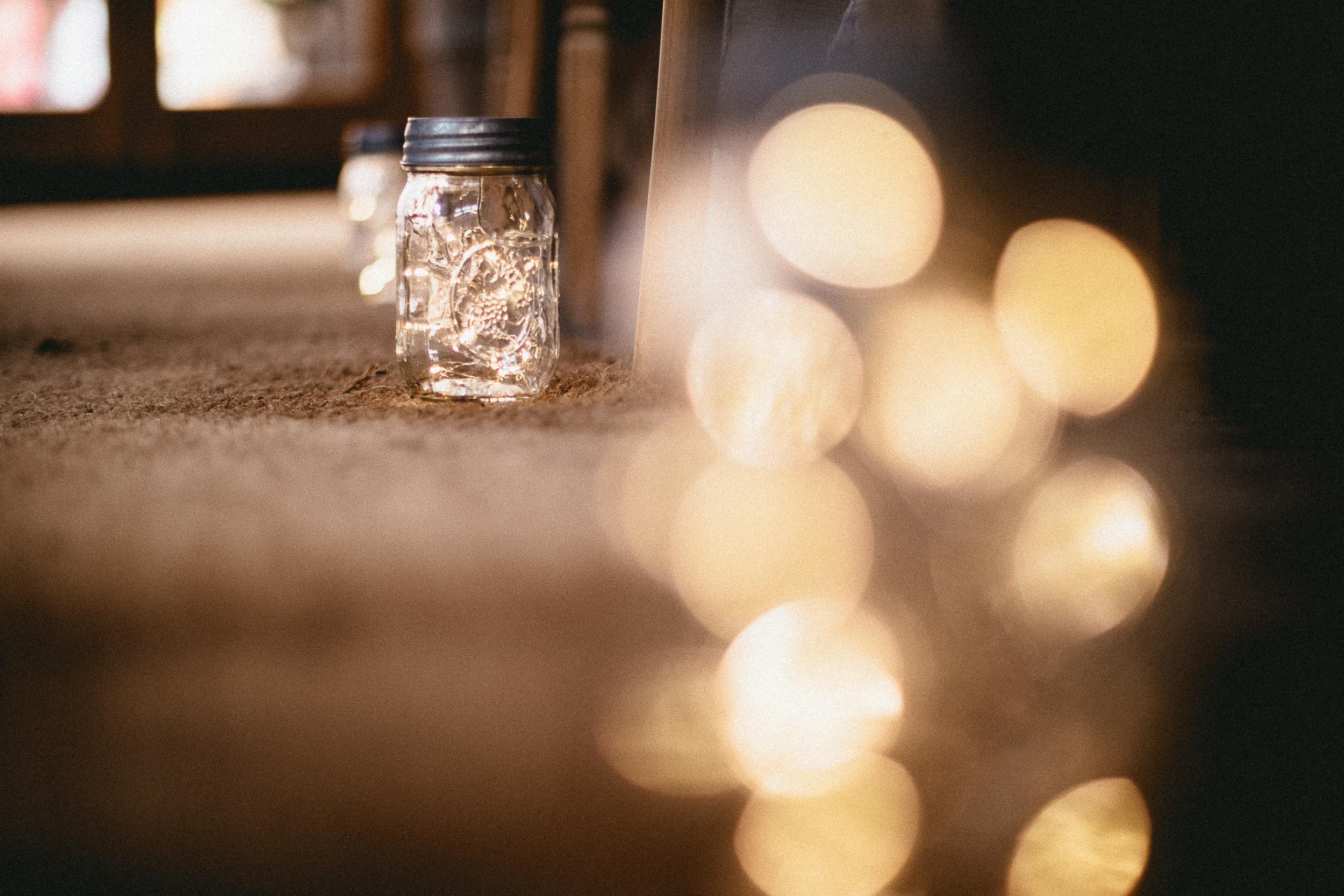 Firefly Jars Aisle Decor