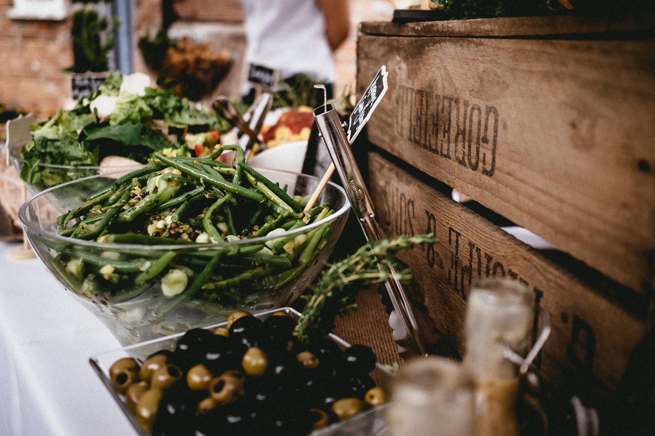 Rustic food buffet for a wedding | Berkshire Wedding Planner