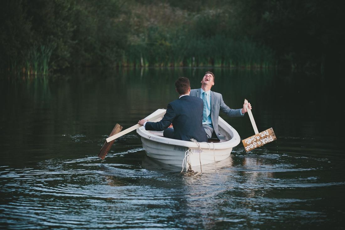 Rowing Boat Groomsmen   Cotswolds Wedding Planner