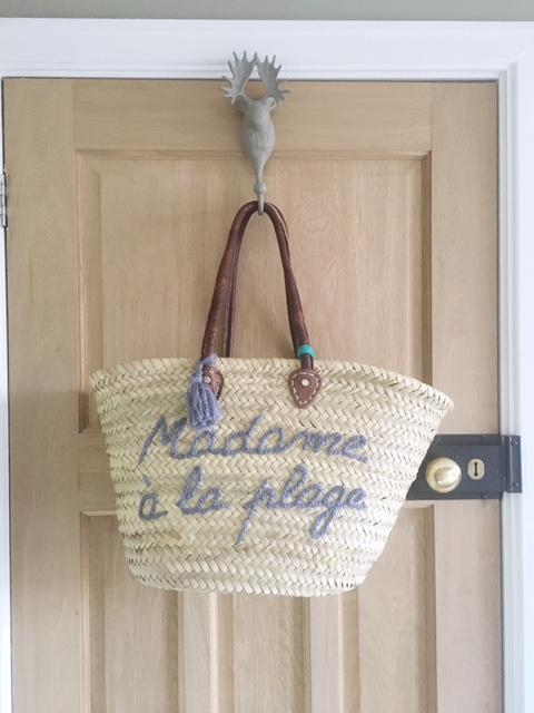 Madame a la Plage straw tote bag