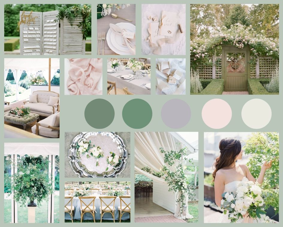 Vanilla Rose Weddings | Oxfordshire Wedding Planner | English Garden Moodboard