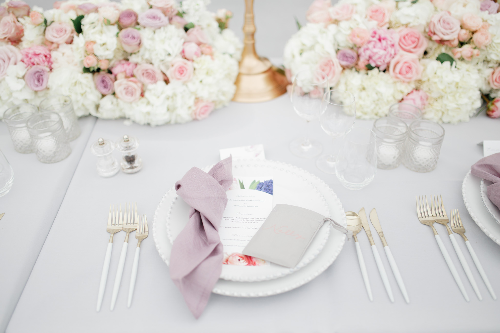 Luxury Place Setting | Oxford Wedding Planner Vanilla Rose Weddings
