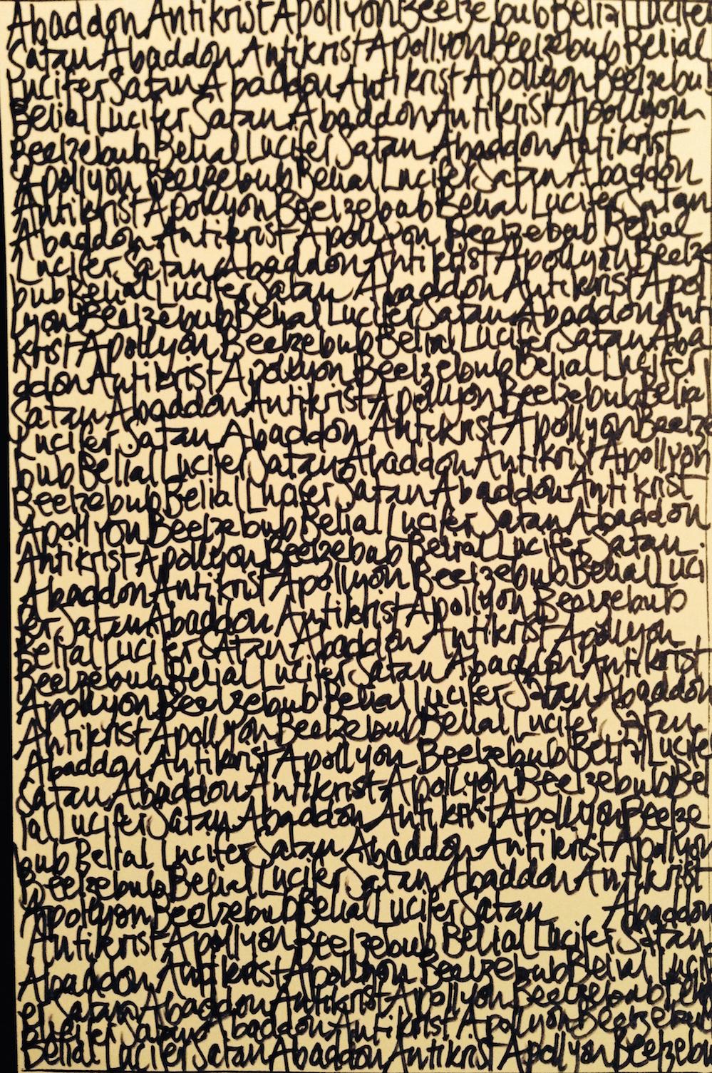 Djevelens palimpsest, første stadie