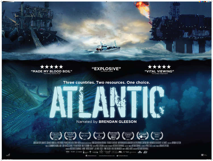 Back by popular demand! Paddy's Fringe presents an extra screening of 'Atlantic'. THURSDAY 30.03.17 at 19.00 Tickets at door only on a first come first served basis Cover Charge: 60 nok – cash or Vipps only  Atlantic (134 min.)  Narrated by Emmy-award winning actor Brendan Gleeson, Atlantic follows the fortunes of three small fishing communities – in Ireland, Norway and Newfoundland – bringing to the fore three very intimate stories from the global resource debate.  See trailer -  https://www.youtube.com/watch?v=On6NrStckP0
