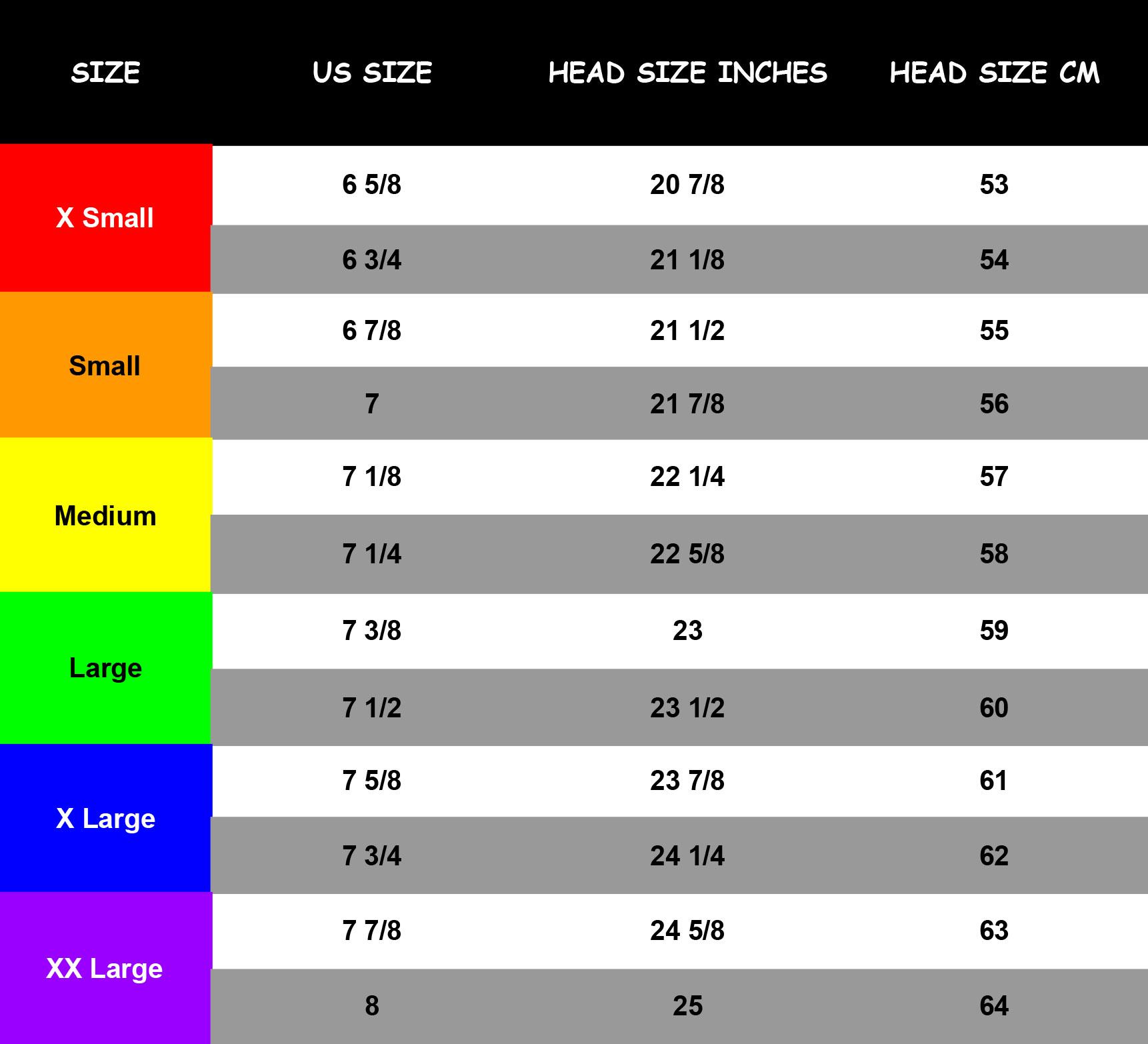 LK Hat Size Guide