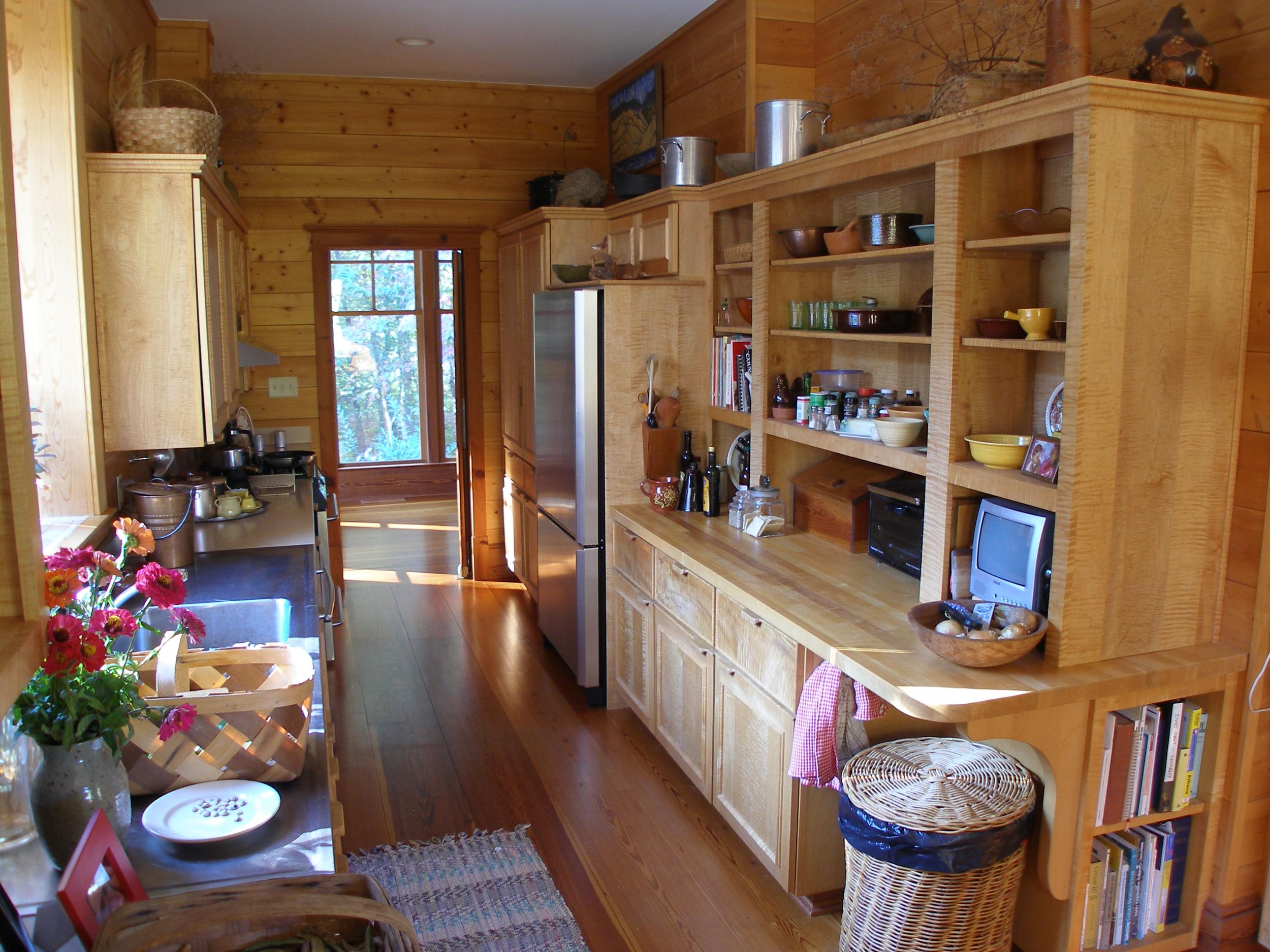 View of work center in galley kitchen.