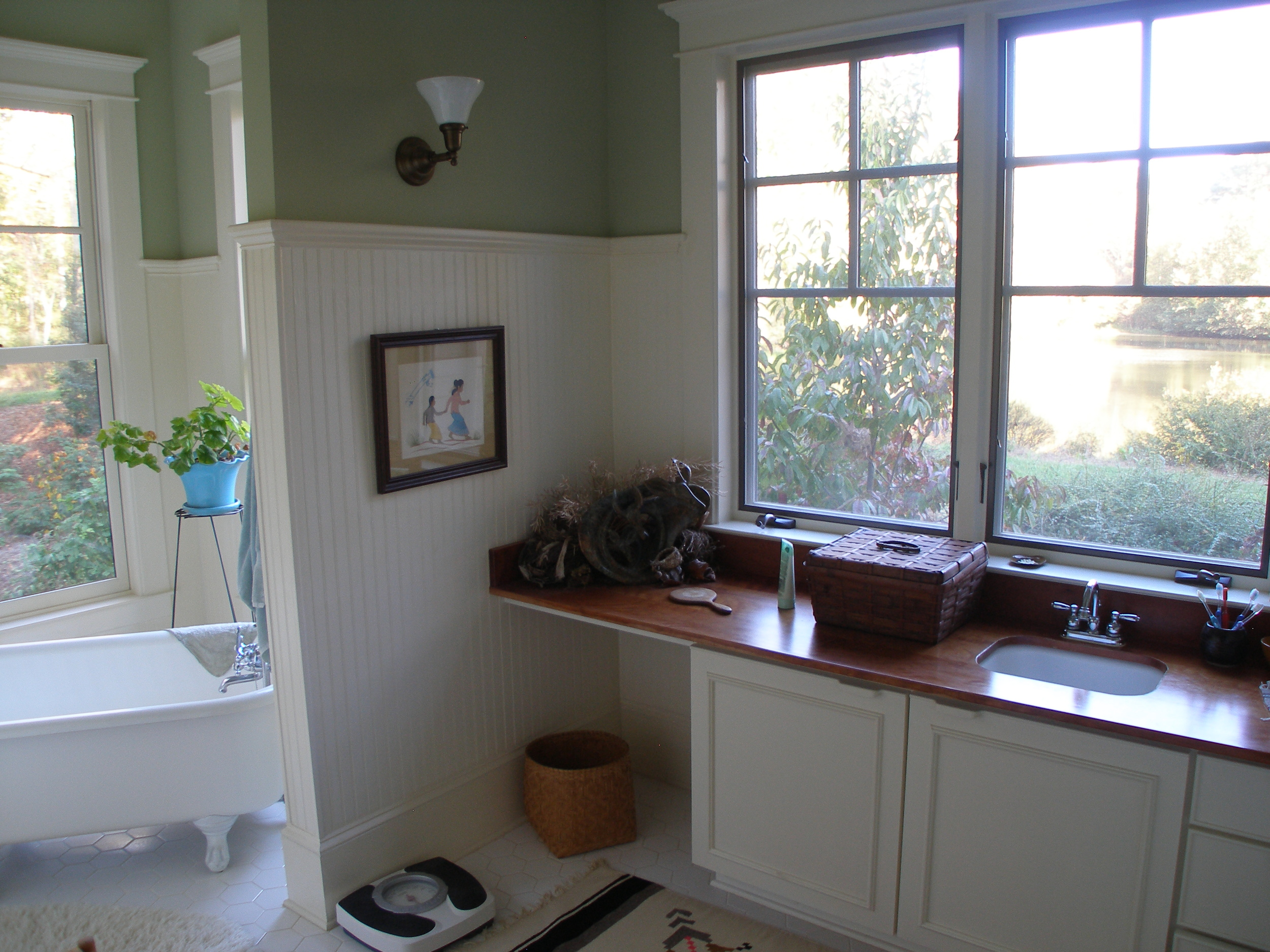 View from master bath.