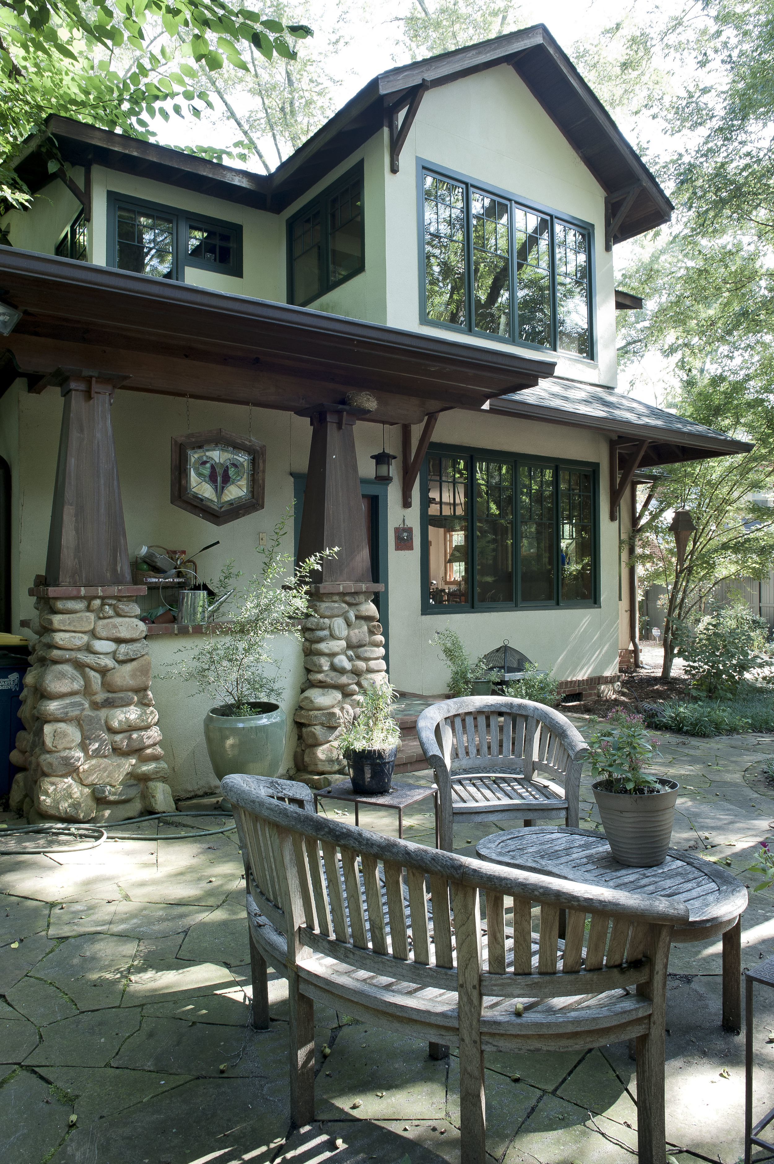 View of back of house-porch-patio.
