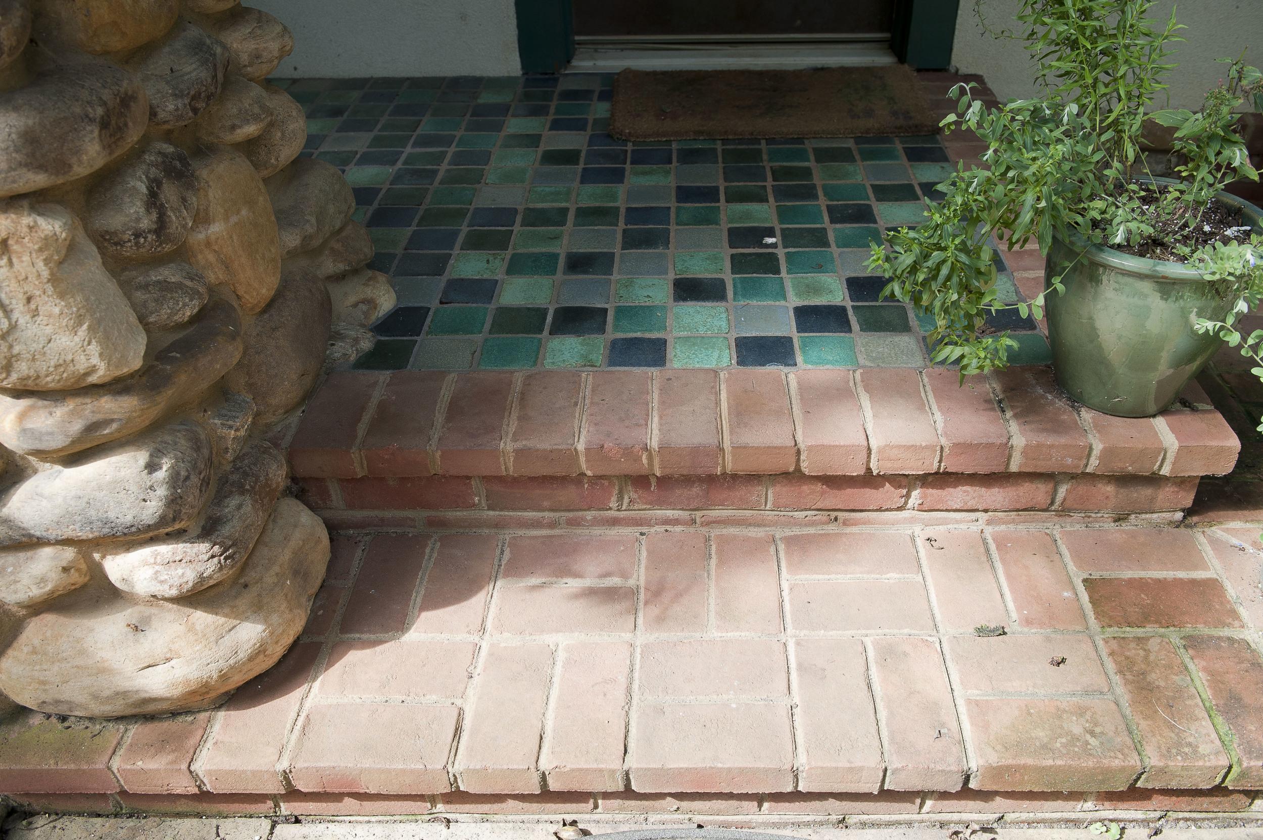 Front porch floor detail.