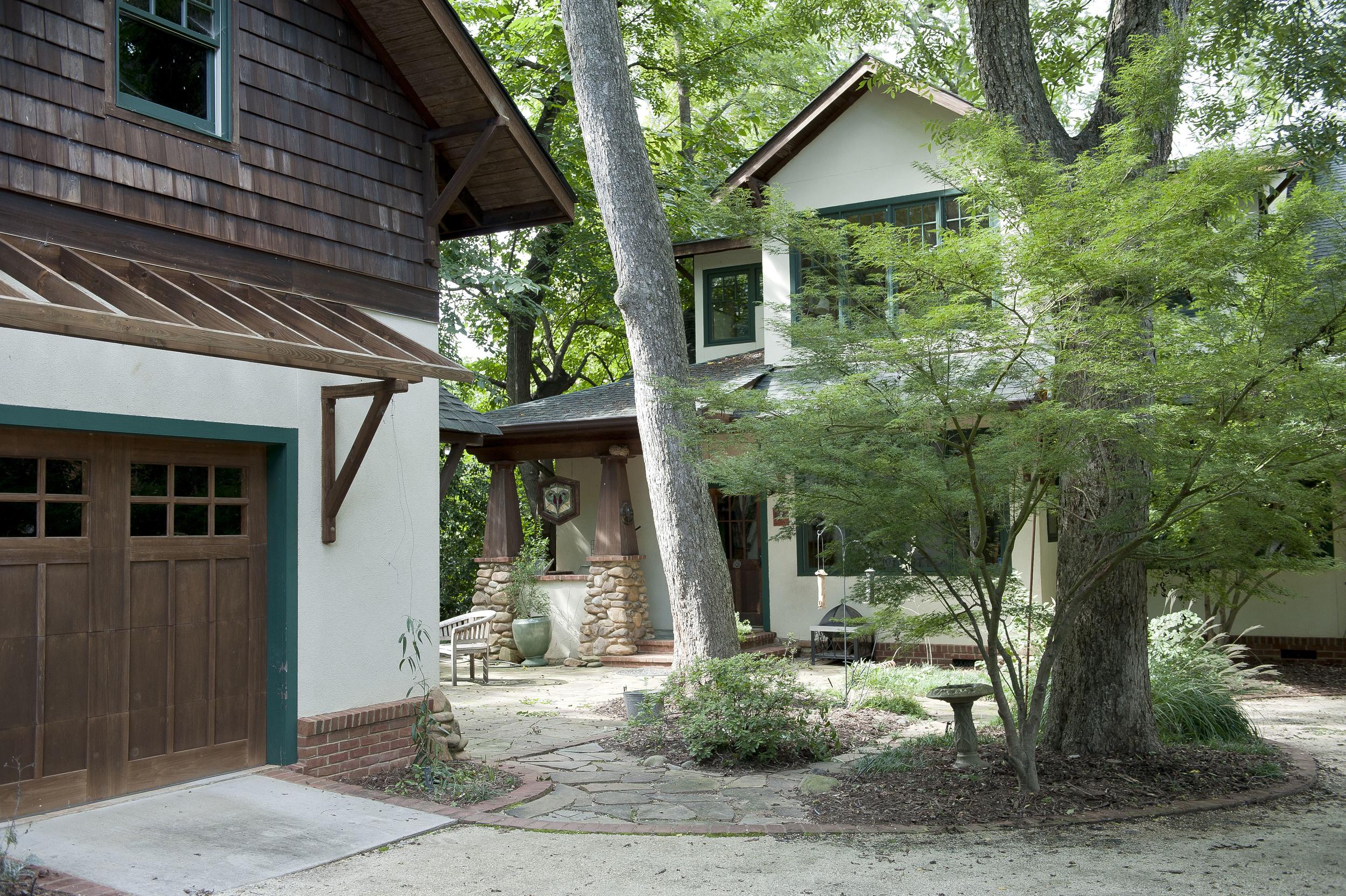 Back of house-garage.