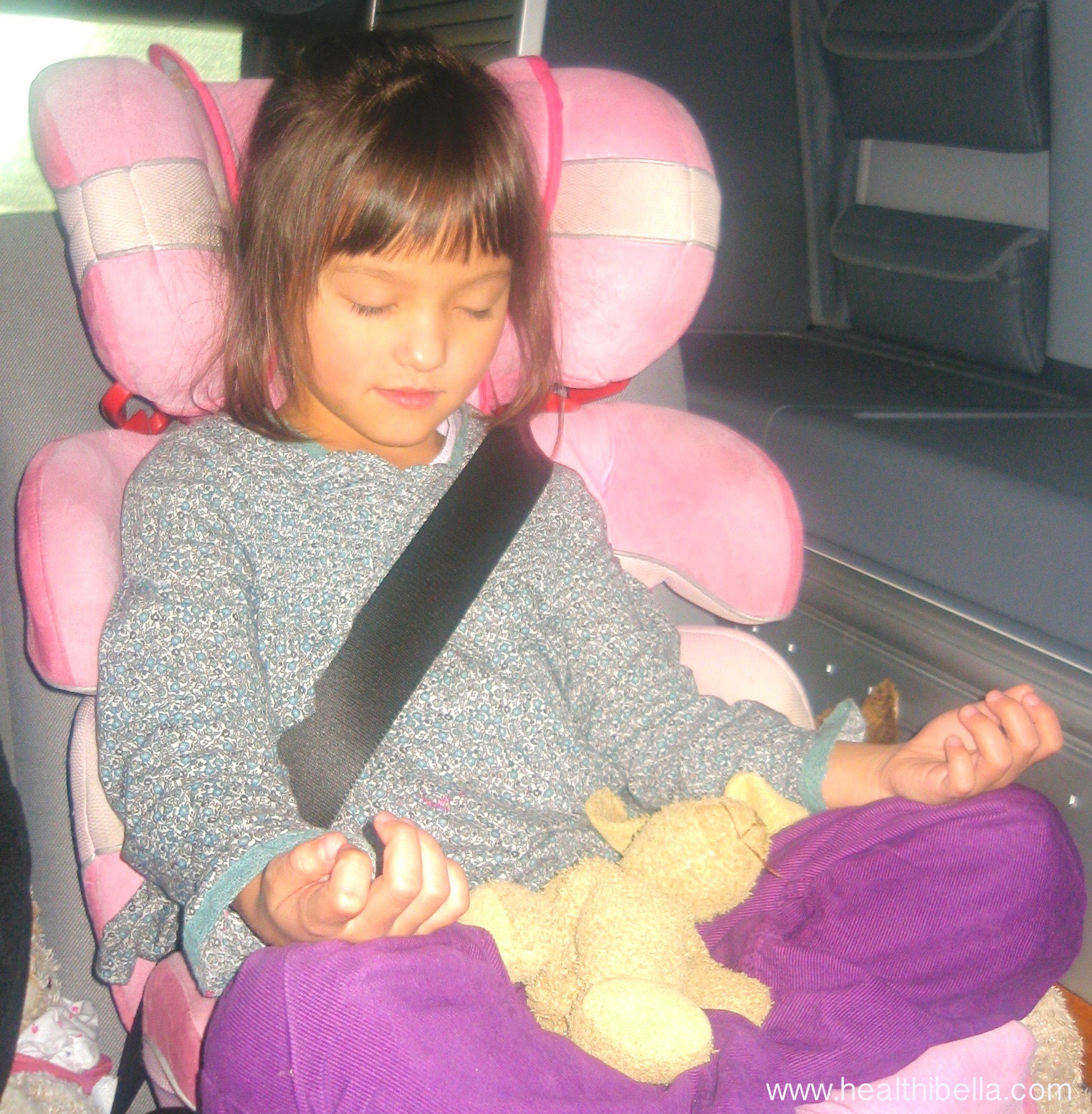 My 5 year old daughter in 2008 copying a meditation pose she learned at our family's ashram.