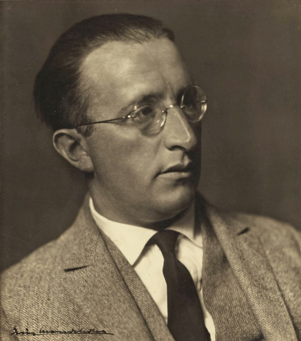 Photo: Erich Mendelsohn, cropped from an image donated by National Library of Israel to Wikimedia Commons and used under the  Creative Commons   Attribution 3.0 Unported  license.