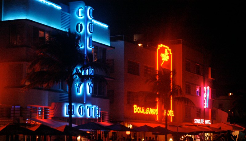 Miami Beach Neon  by  James Walsh  is licensed under  CC BY-NC 2.0
