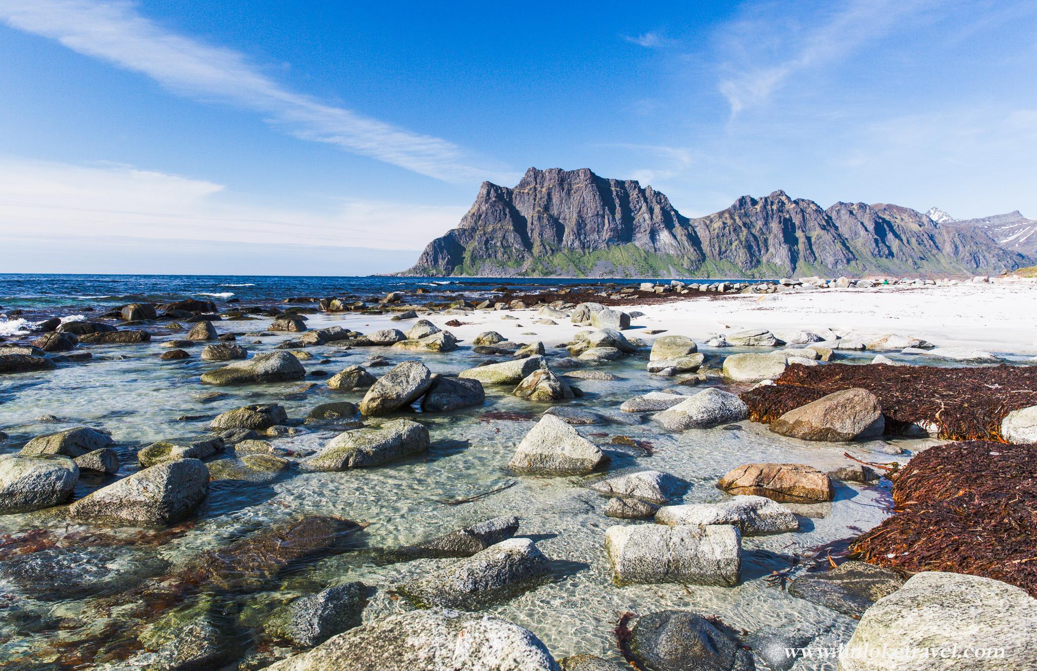 Uttakleiv, an arctic beach in Lofoten