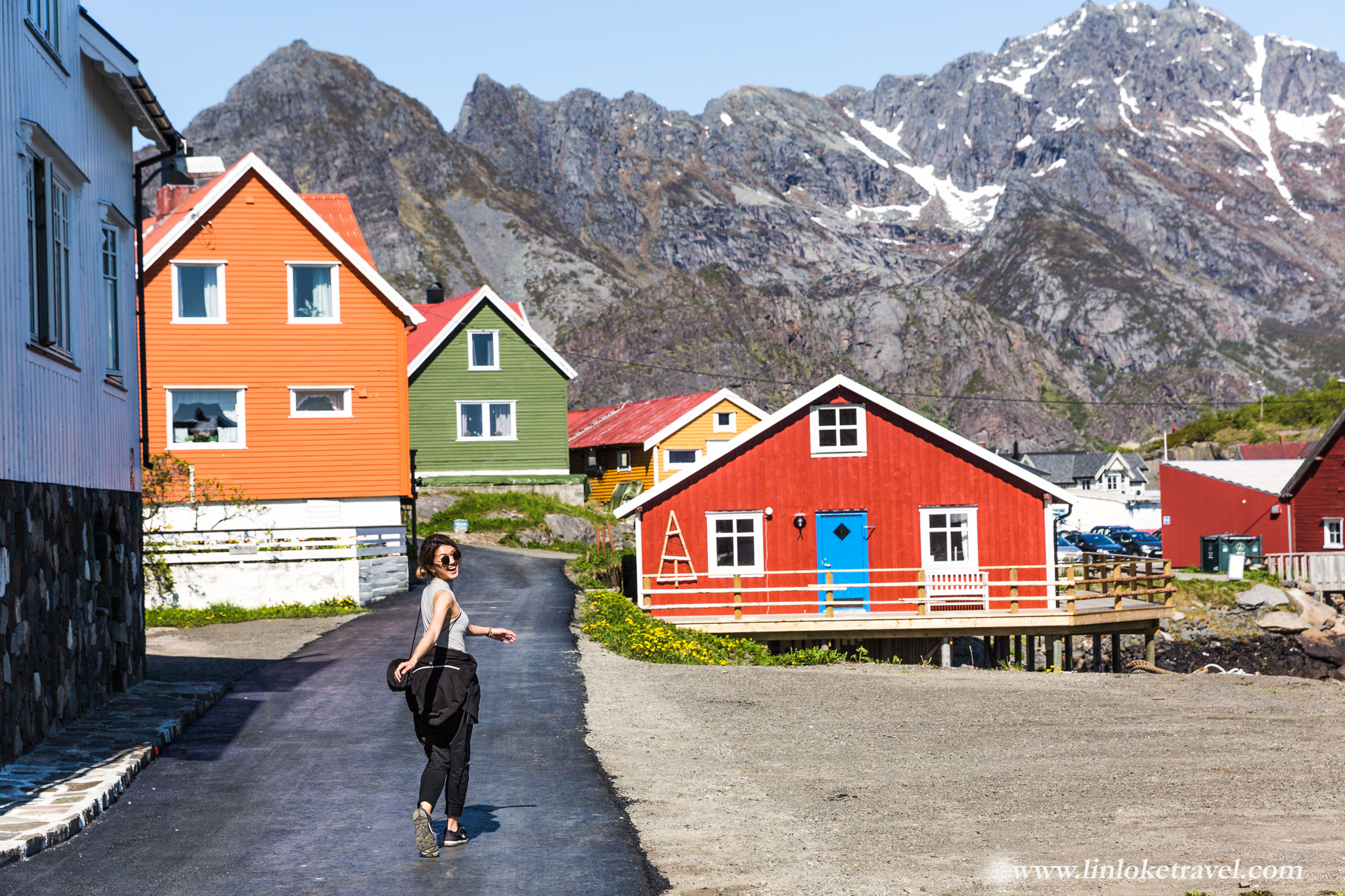 Cute multi-colour wooden houses of Henningsvær