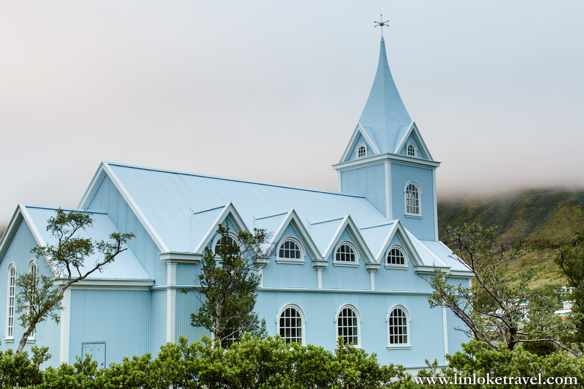 Seydisfjordur's Blue Church