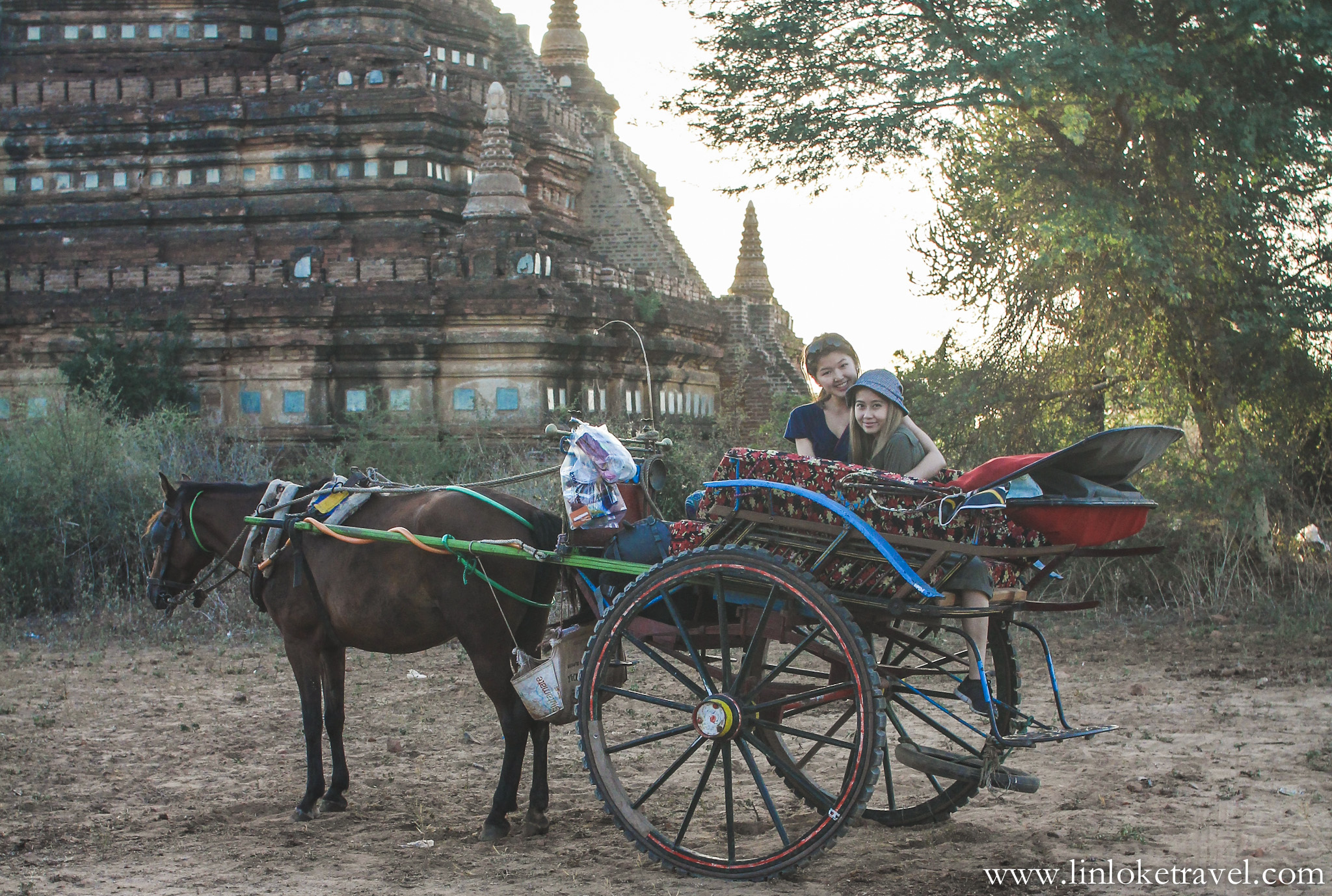 Horse-cart ride in Bagan