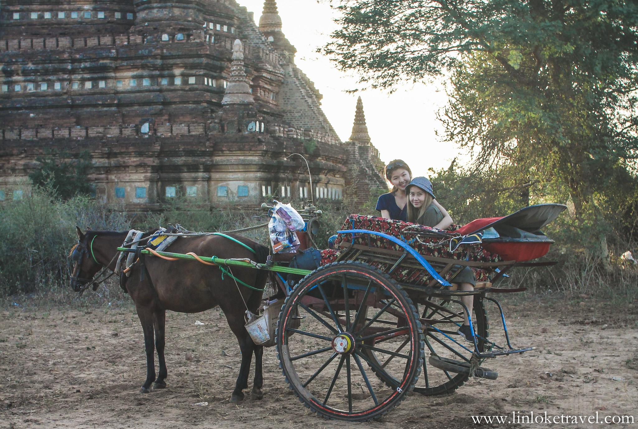 Horse-cart ride in Bagan