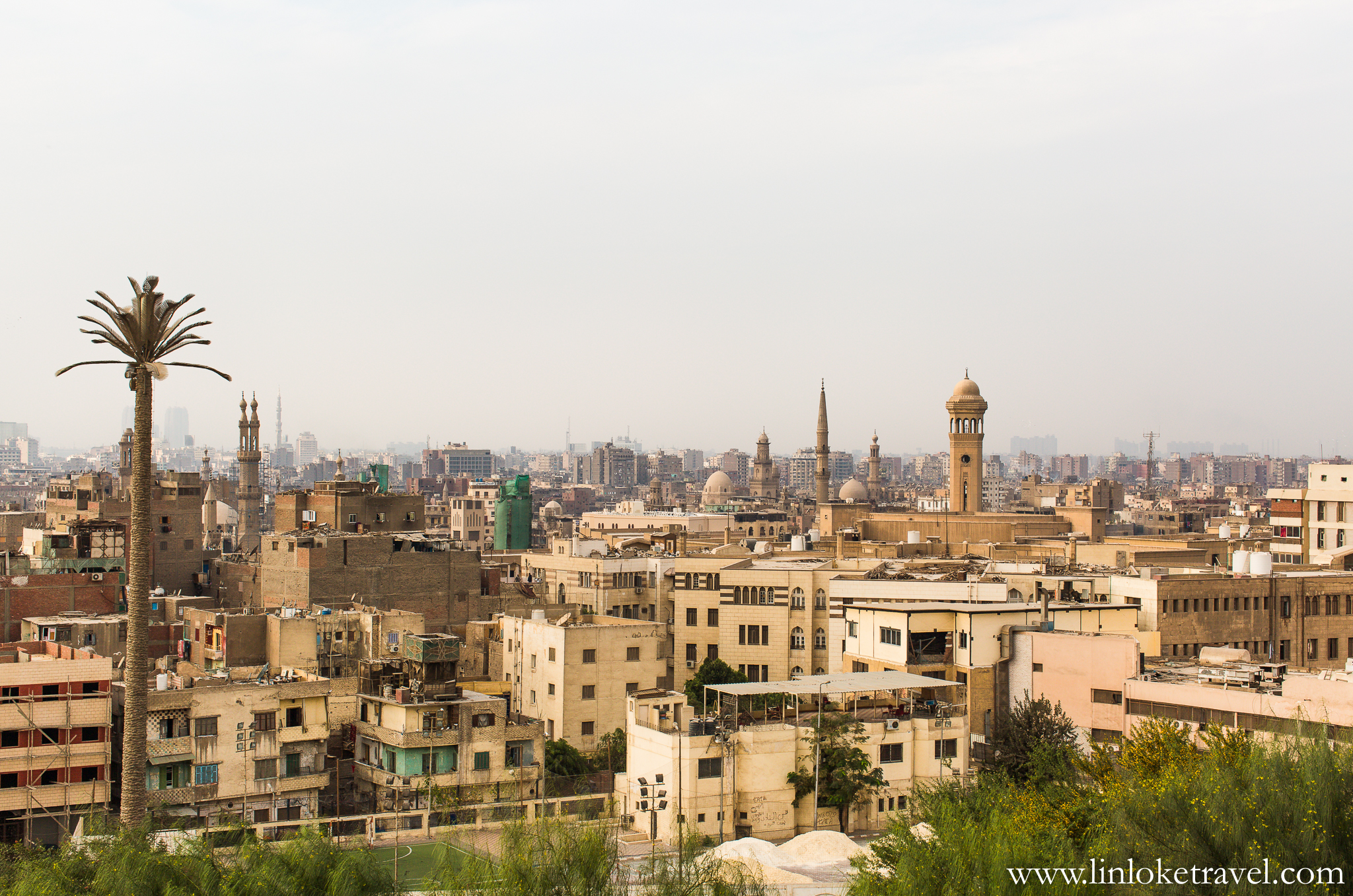 View from the other side of Al-Azhar Park.