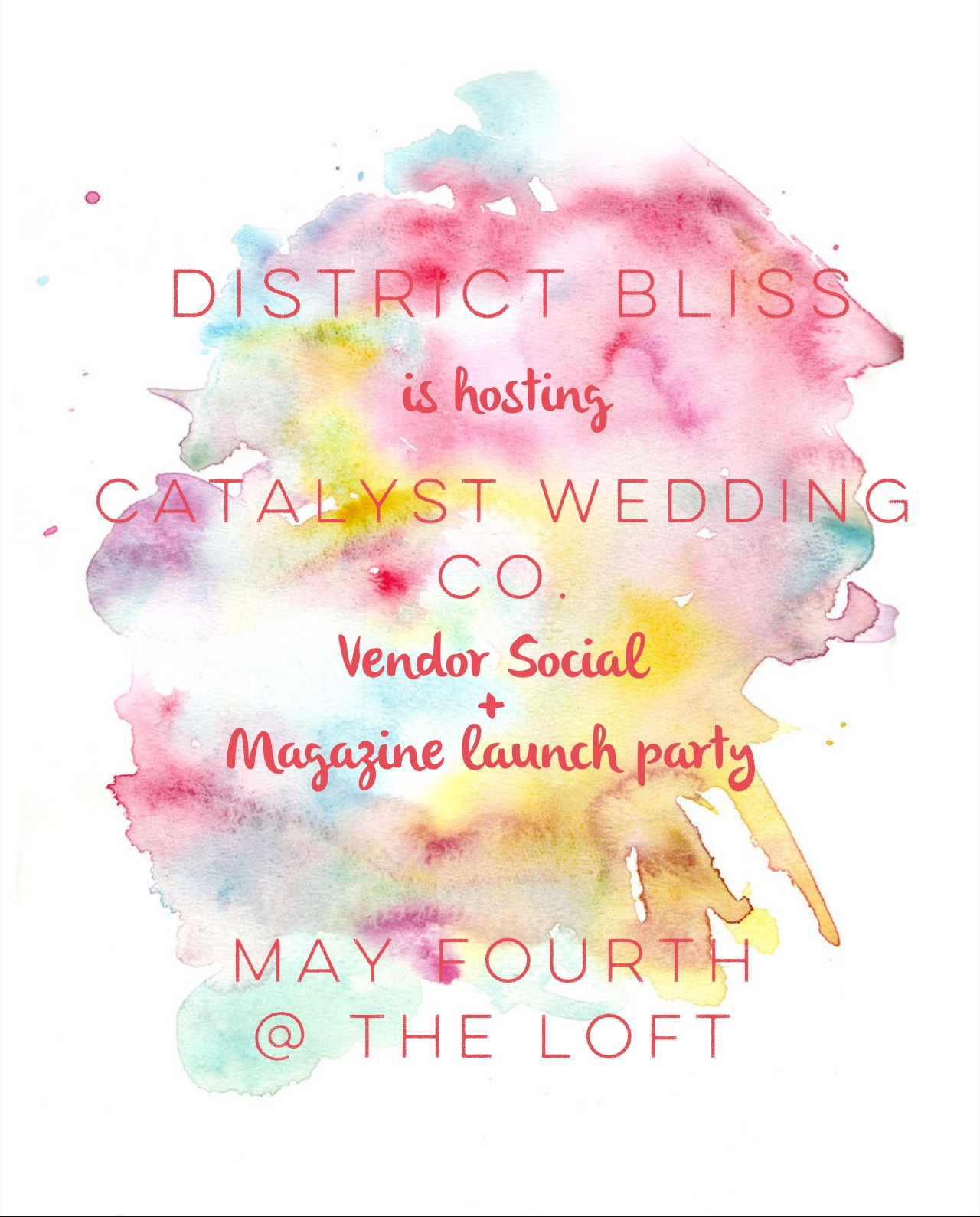 flyer for catalyst magazine launch party