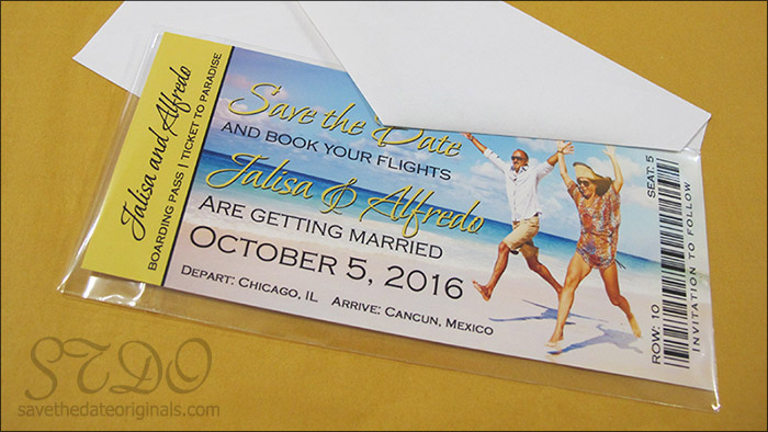 Save the Date Originals cards for jalisa and alfredo