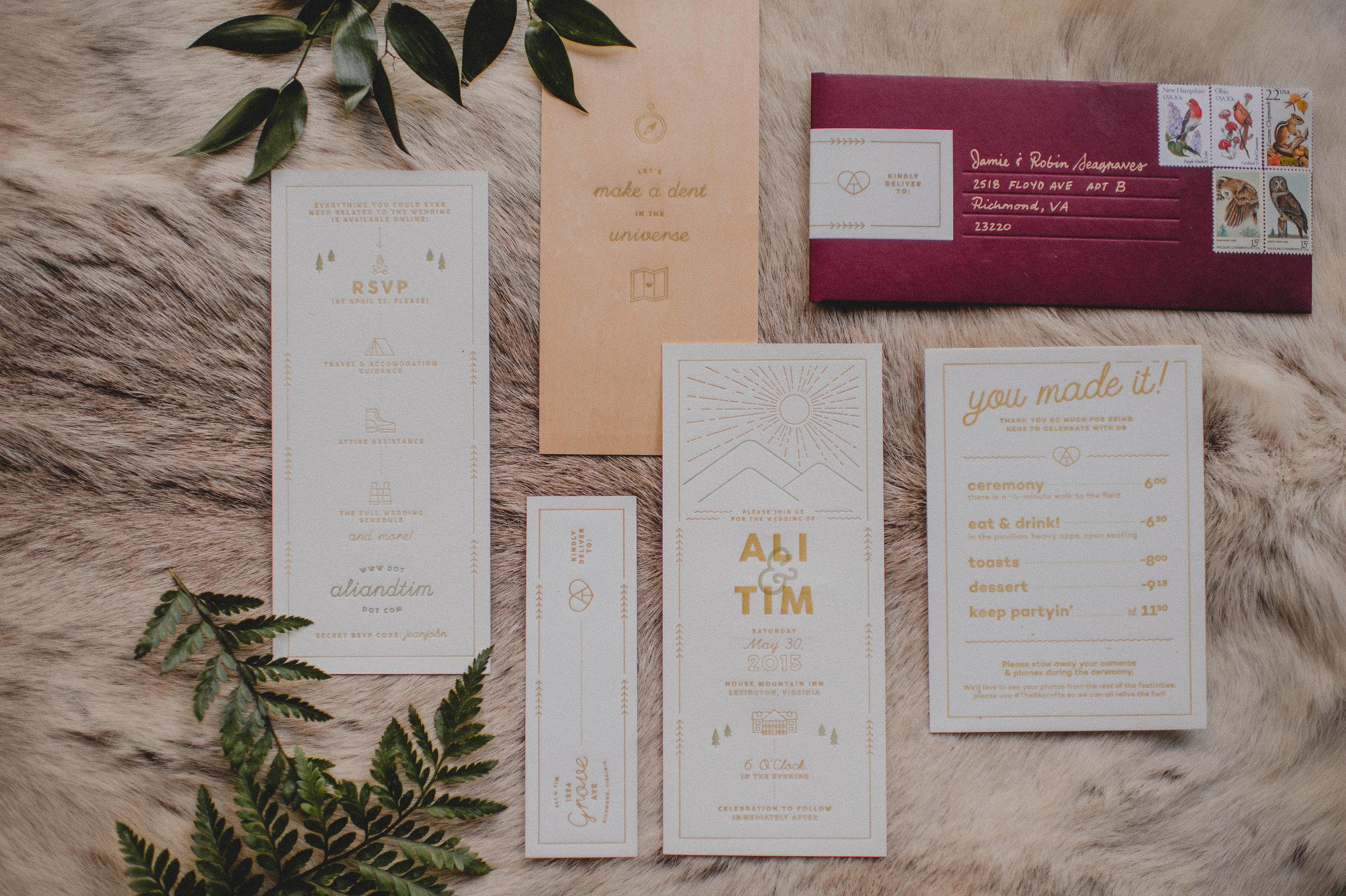 Skirven & croft invitations