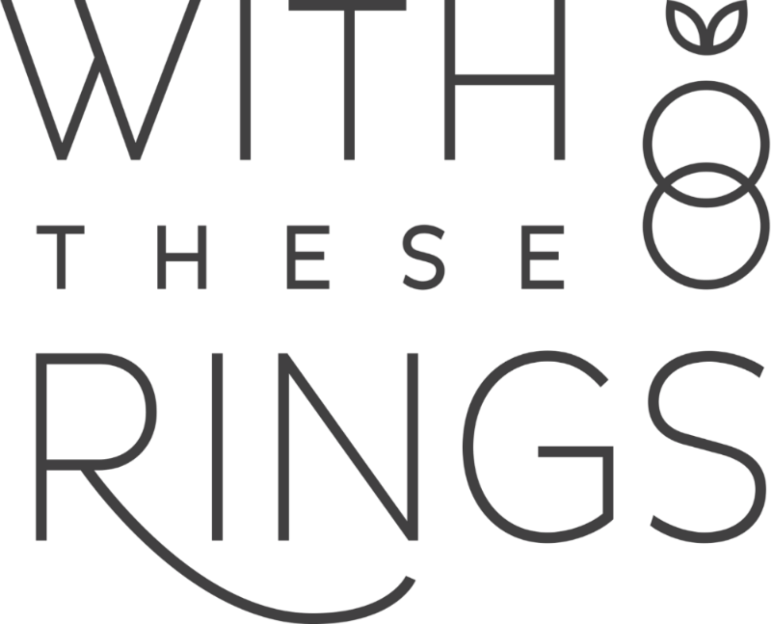 with these rings wedding rings text logo
