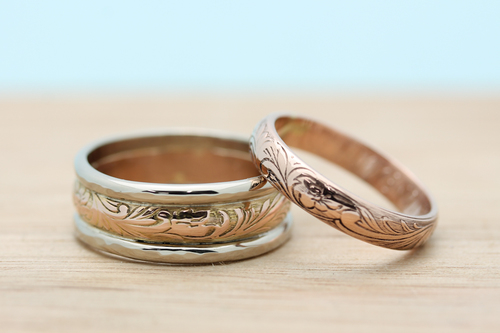 with these rings gold wedding bands