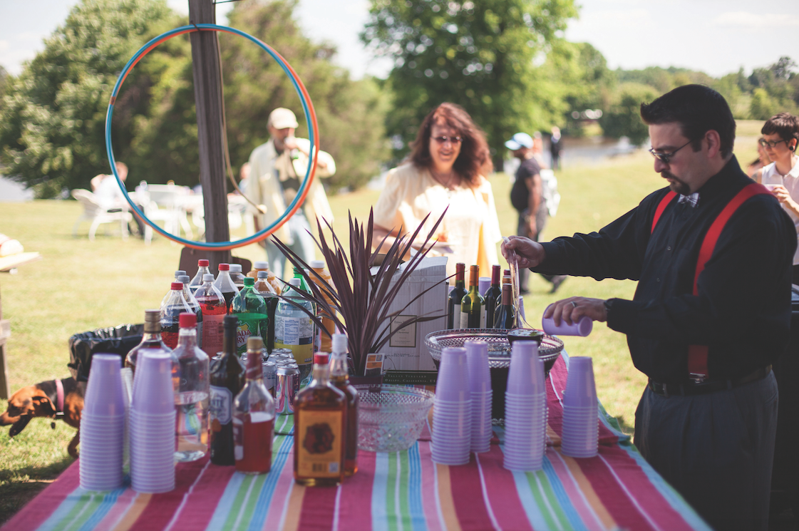 Carly Romeo & Co. Wedding Photography drinks table