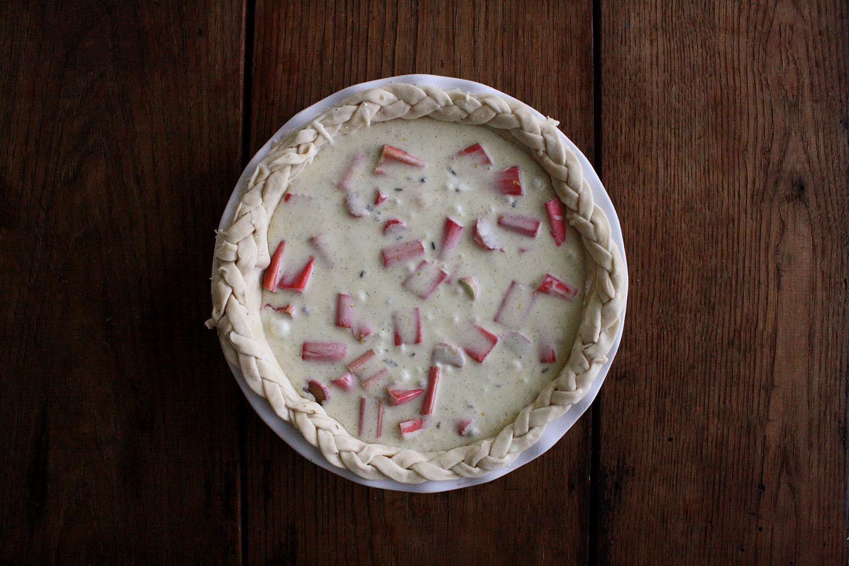 Arley Cakes rhubarb pie filling