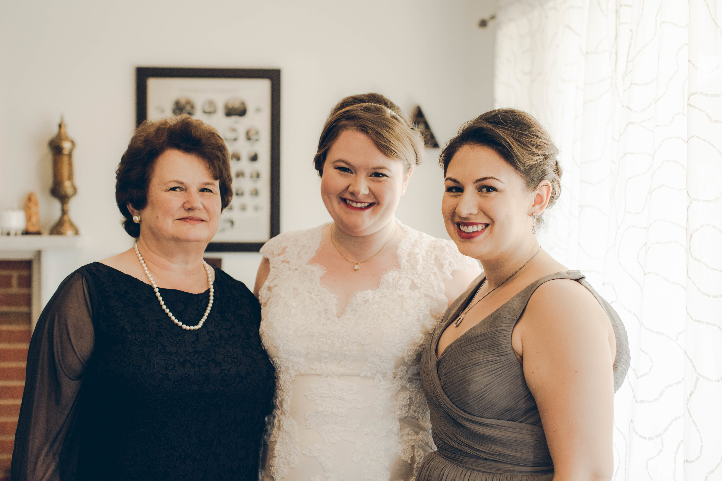 Betty Clicker Wedding Photography bride with family