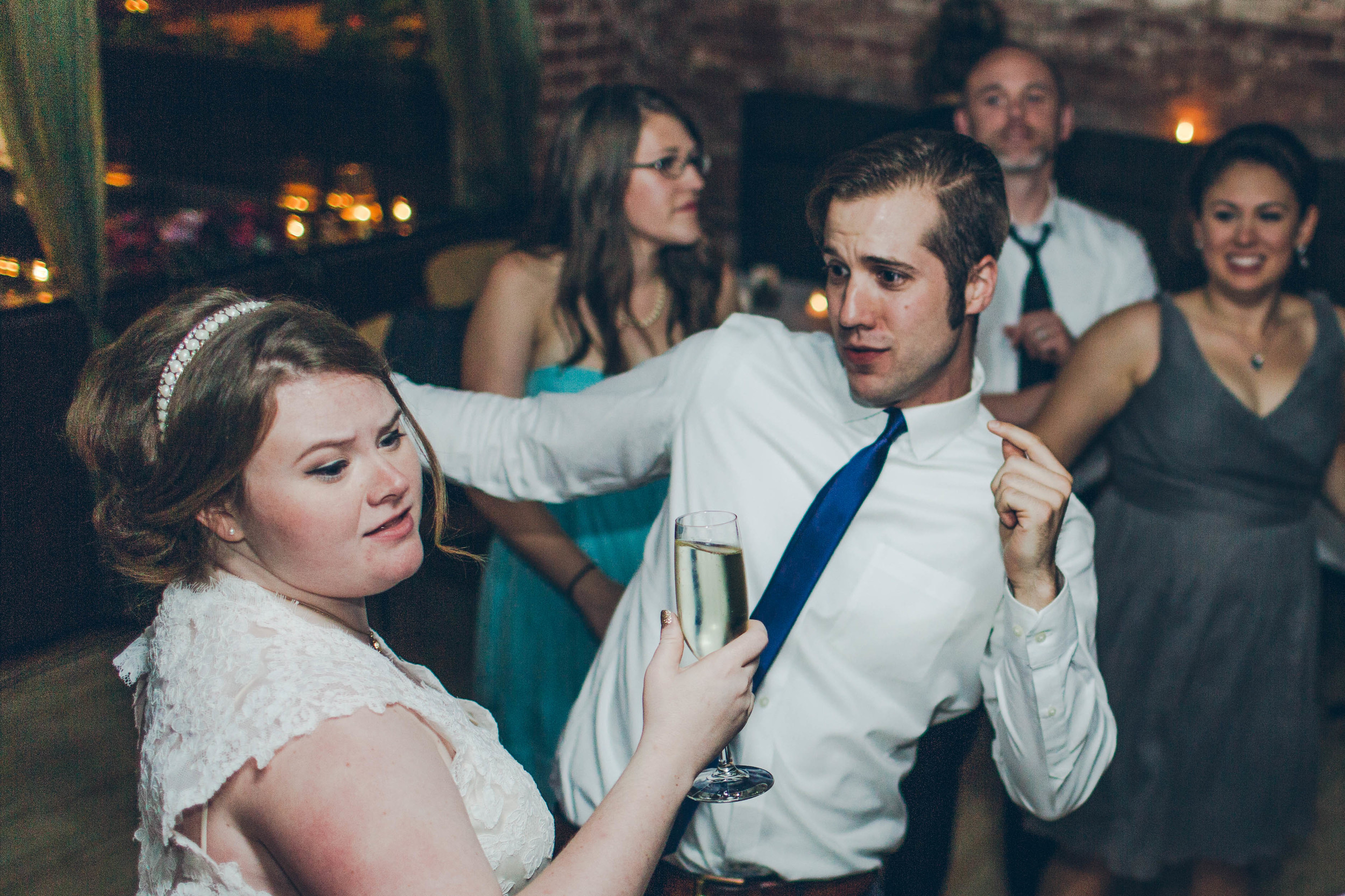 Betty Clicker Wedding Photography bride dancing with guests