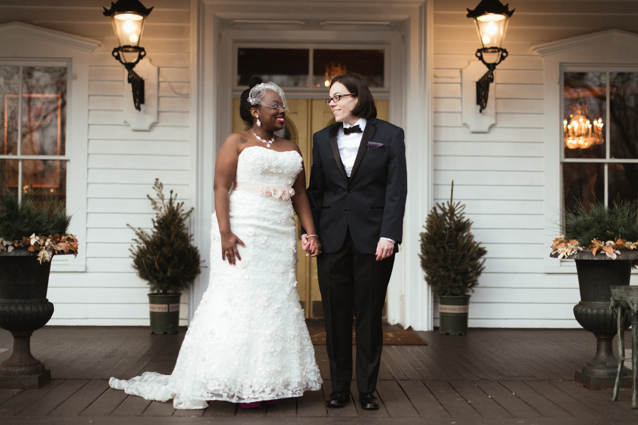Ash Carr Wedding Photography New York couple smiling at each other