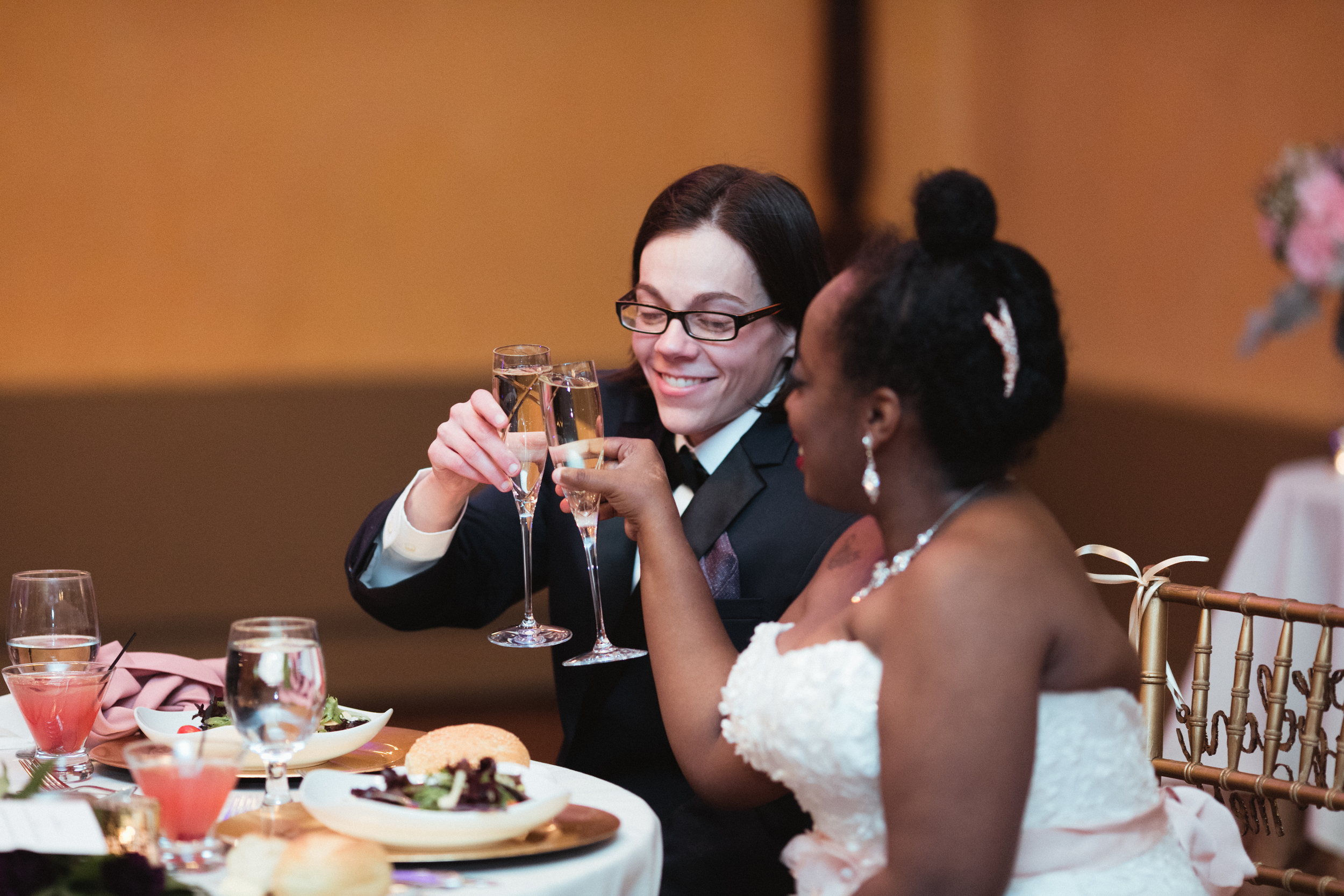 Ash Carr Wedding Photography New York couple toasting