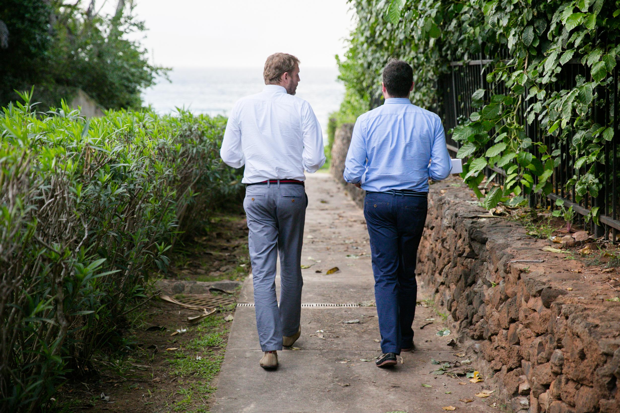 Lisa25 Wedding Photography couple walking on path
