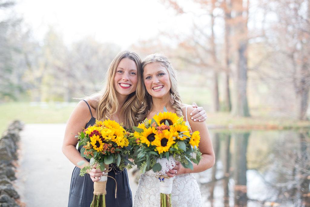 Corey and Alex Larrison Wedding Photography Cincinnati bride and maid of honor