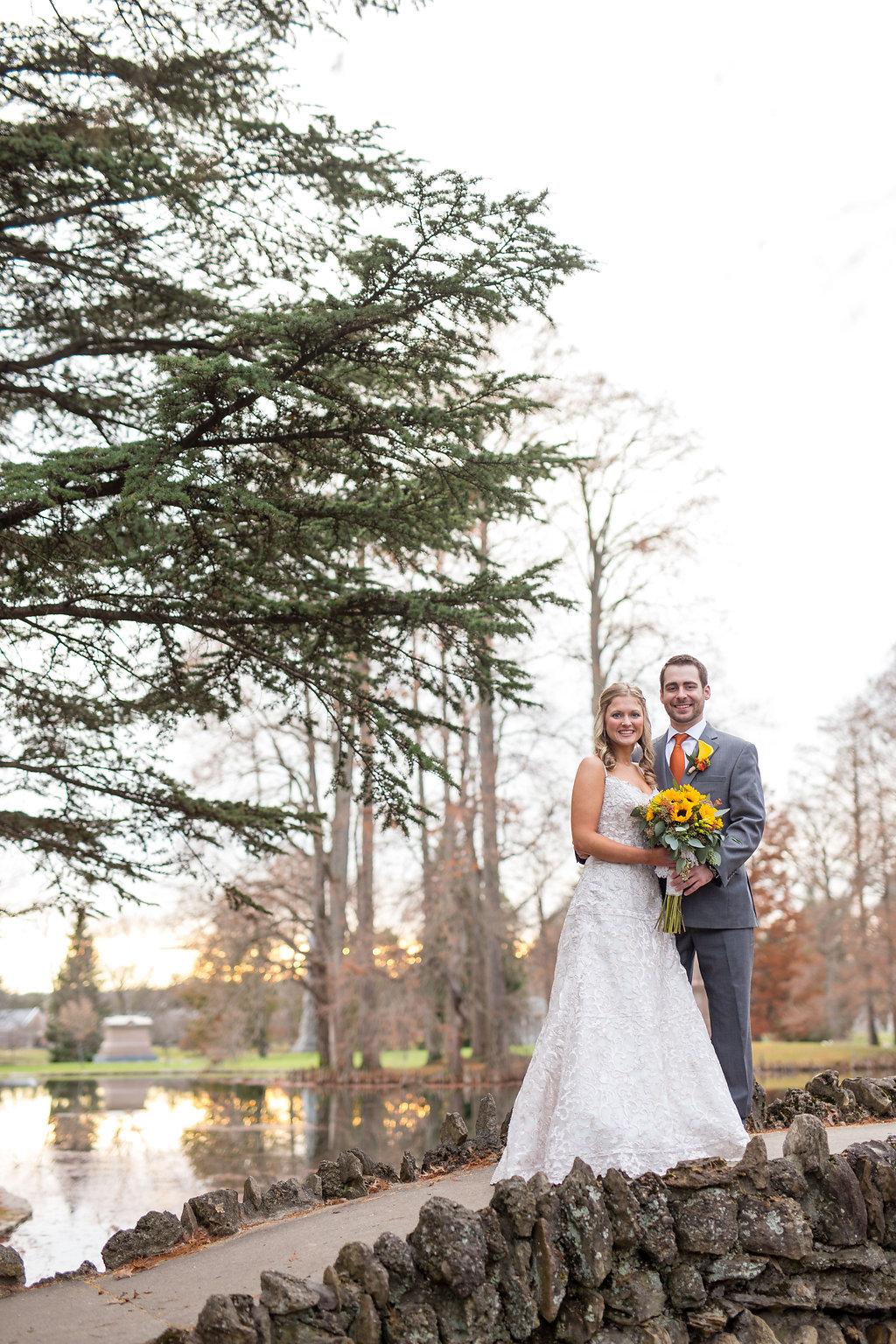 Corey and Alex Larrison Wedding Photography Cincinnati couple on path