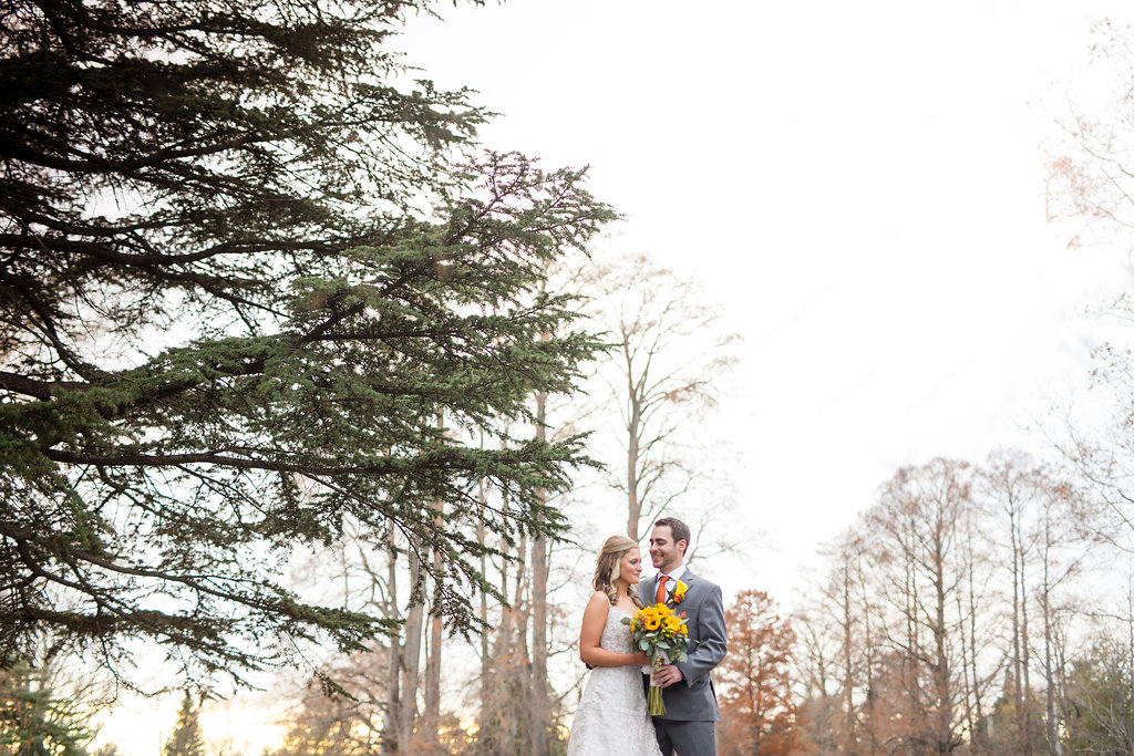 Corey and Alex Larrison Wedding Photography Cincinnati couple framed by trees