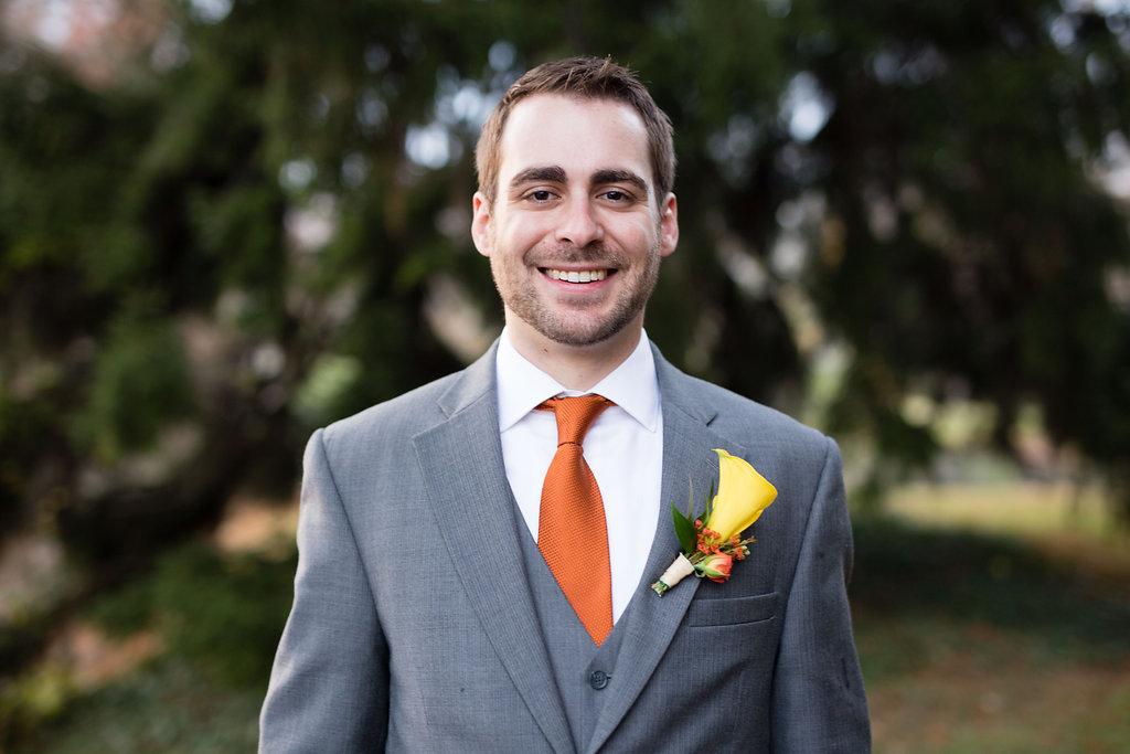 Corey and Alex Larrison Wedding Photography Cincinnati groom