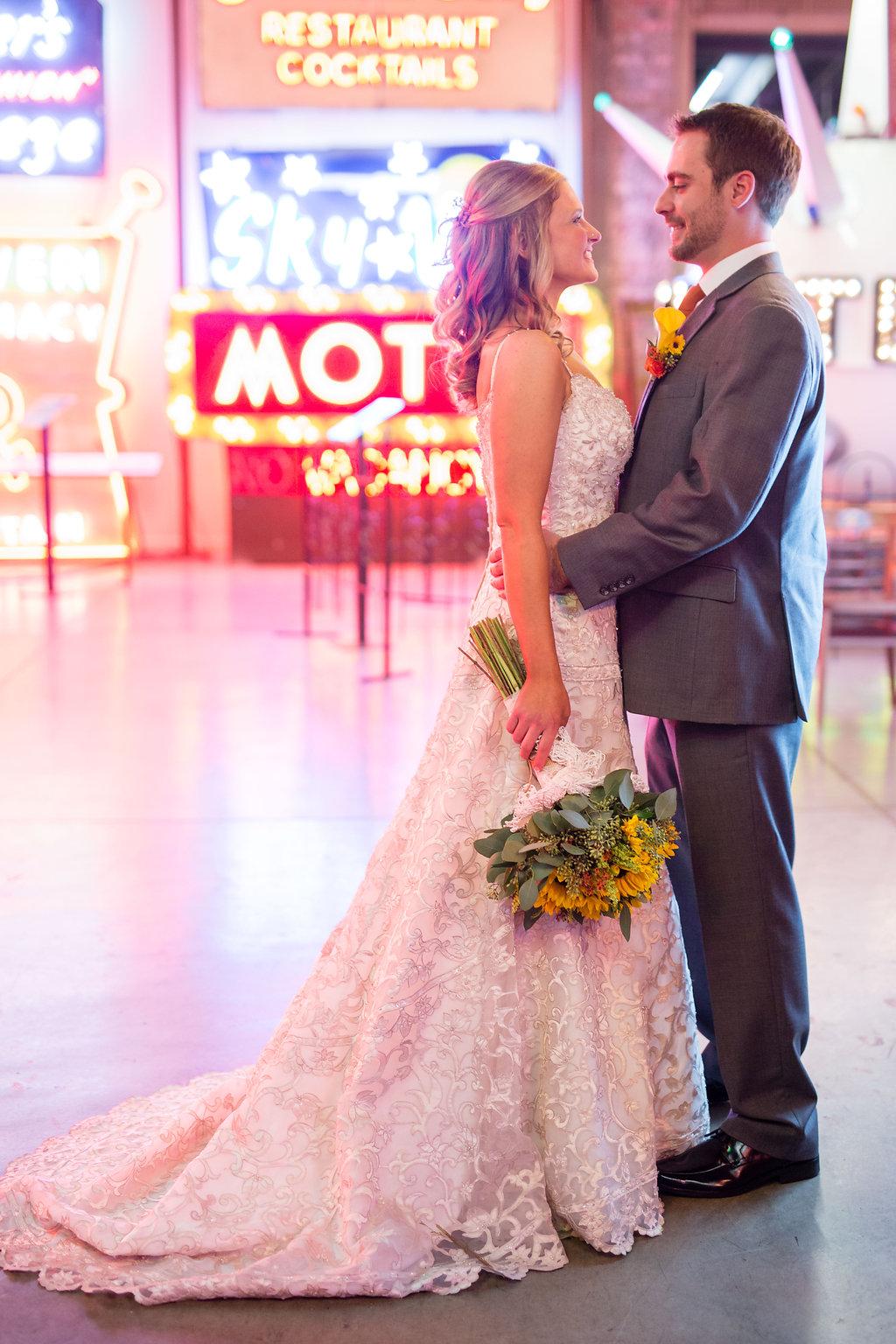 Corey and Alex Larrison Wedding Photography Cincinnati embrace