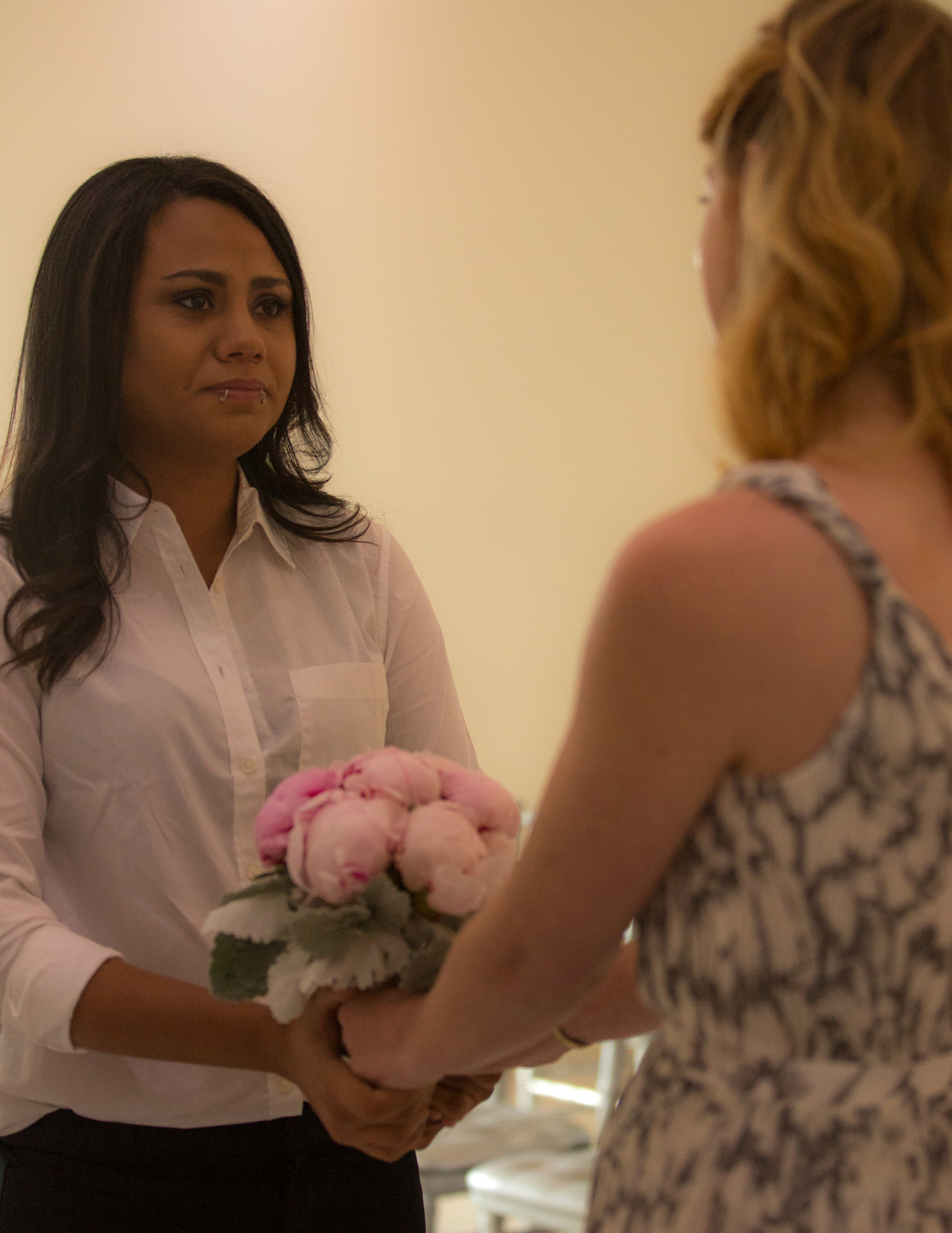 Colleen Stavrakos Wedding Photography brides holding bouquet