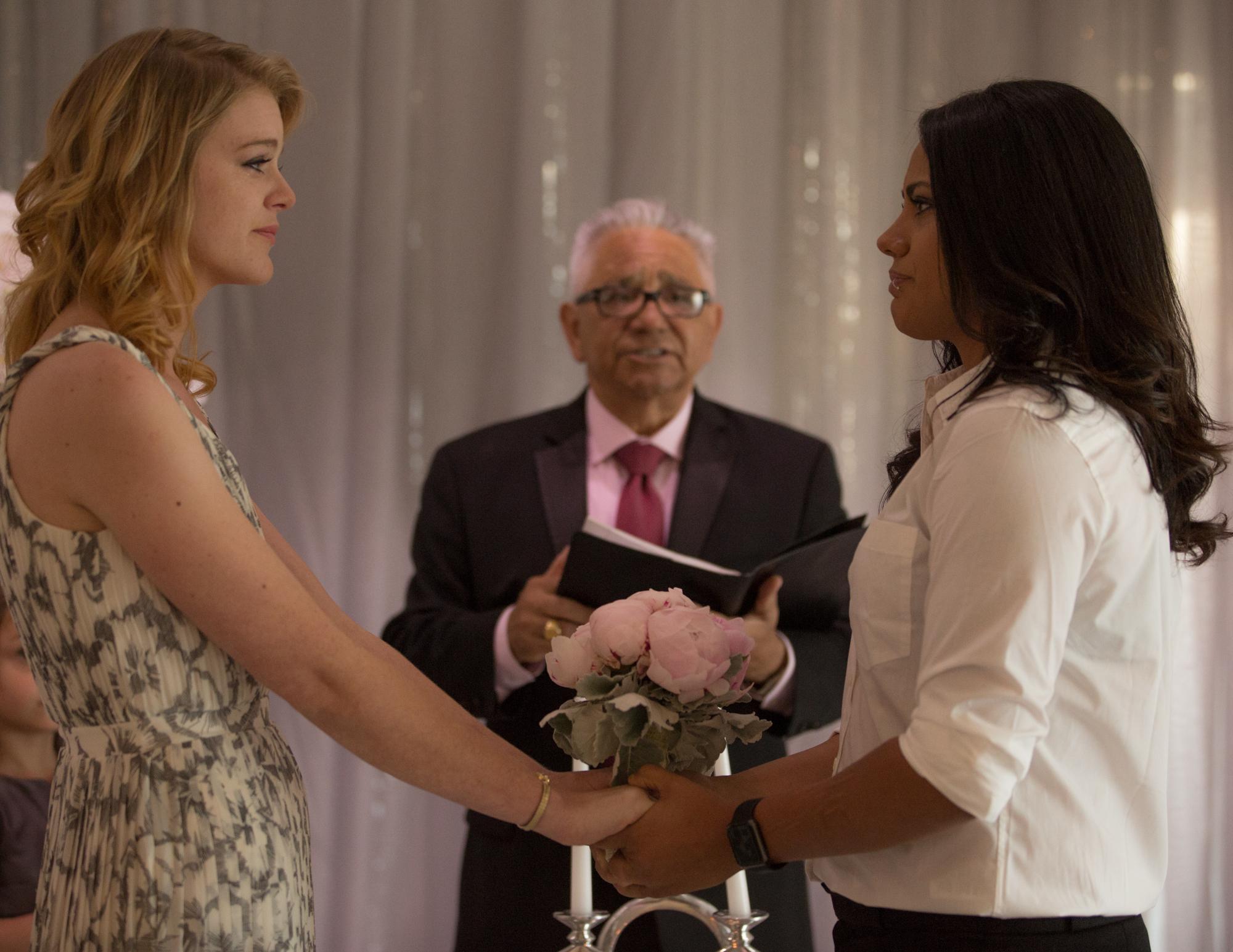 Colleen Stavrakos Wedding Photography brides at altar