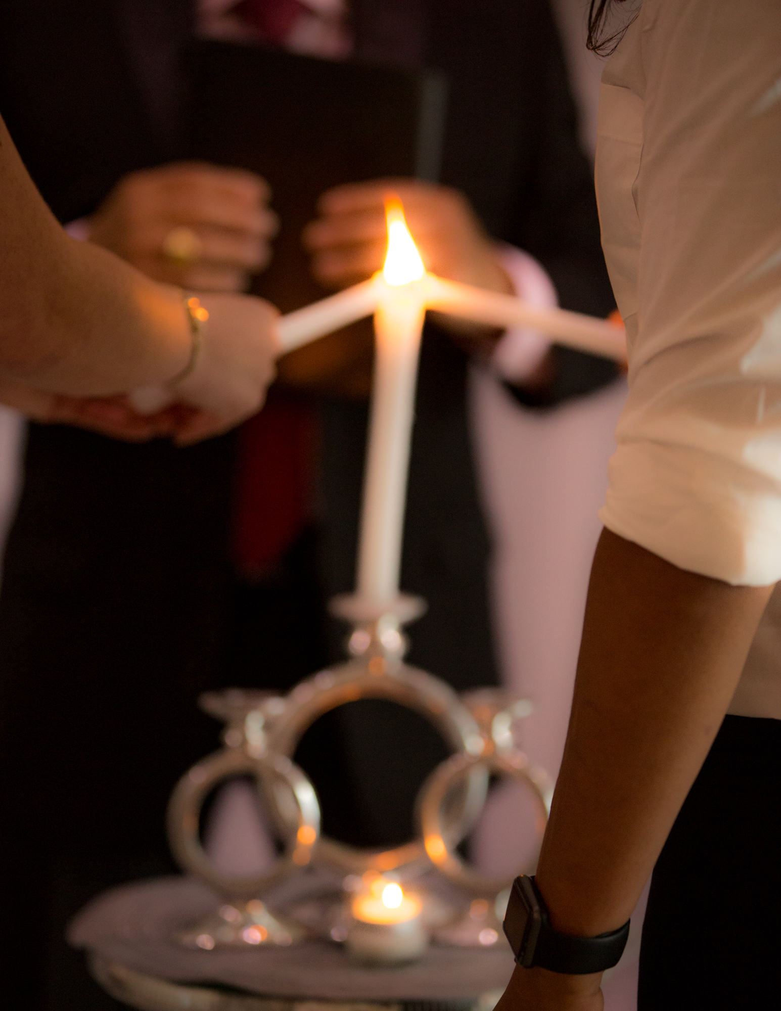 Colleen Stavrakos Wedding Photography brides lighting candles