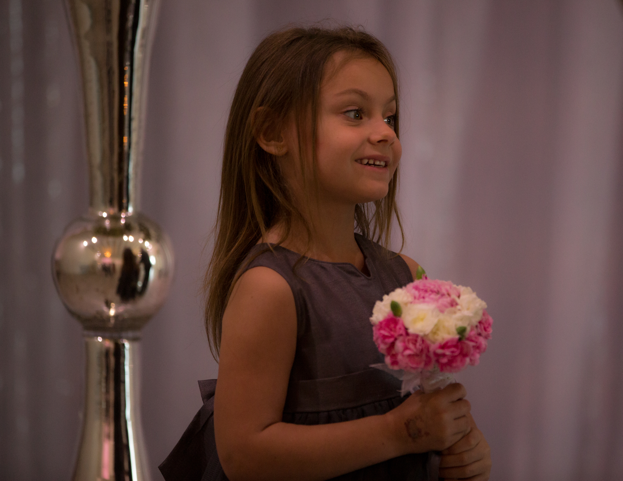 Colleen Stavrakos Wedding Photography smiling young flower girl