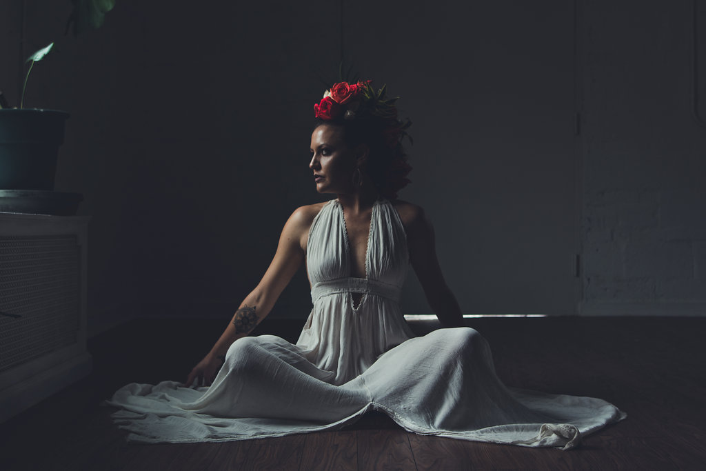 Lisa Rundall Wedding Photography Colorado Model sitting on floor
