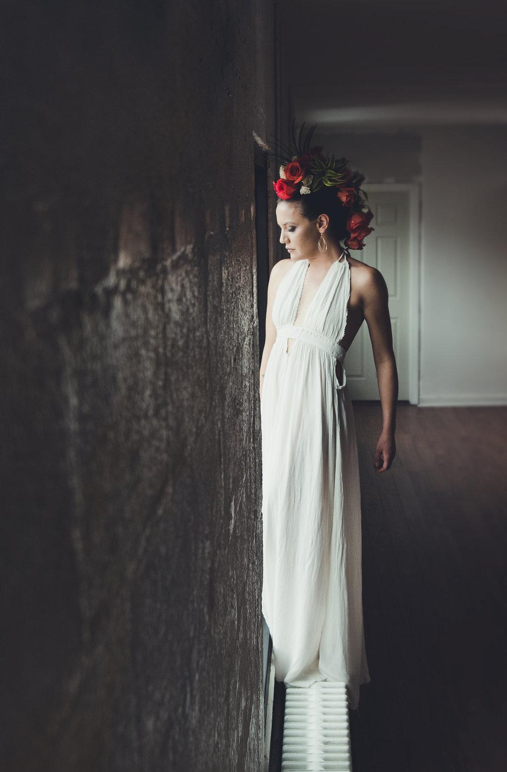 Lisa Rundall Wedding Photography Colorado model standing at window
