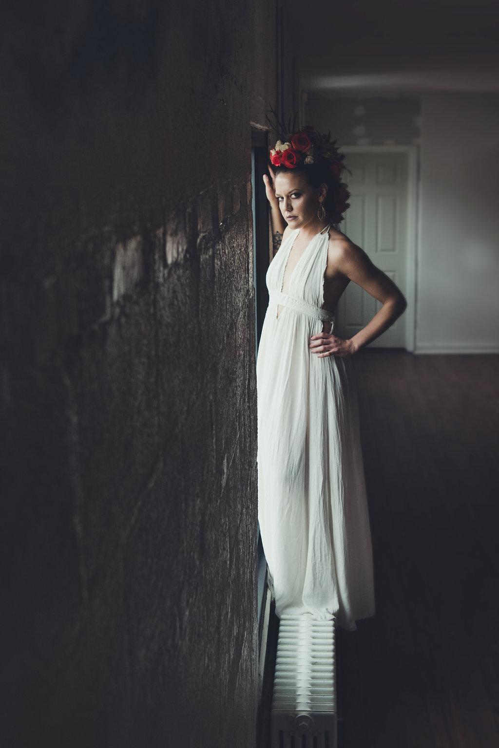 Lisa Rundall Wedding Photography Colorado model by window