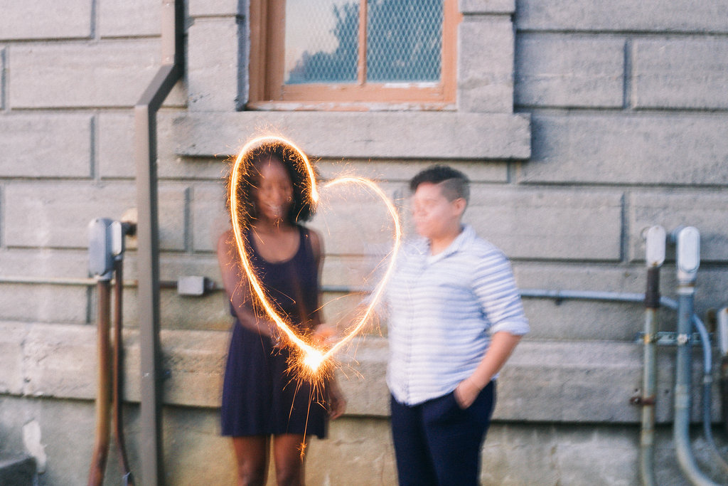 Branch and Twig Wedding Photography sparkler heart