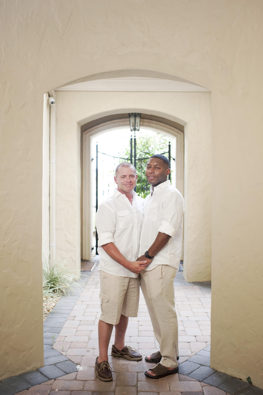 The Canovas Photography grooms in doorway