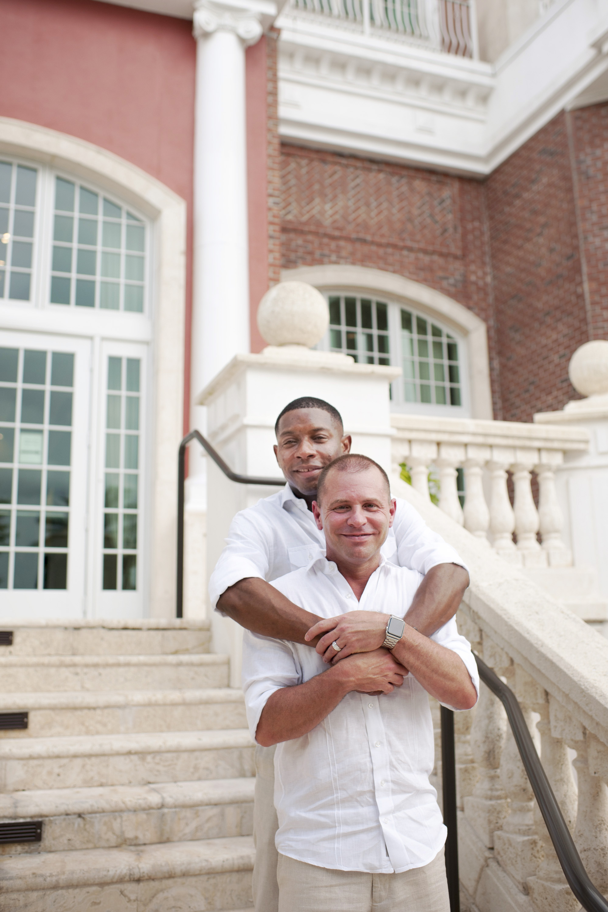 The Canovas Photography grooms on stairs